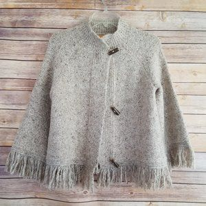 Ruby Rd Fringed Toggle Button Cardigan